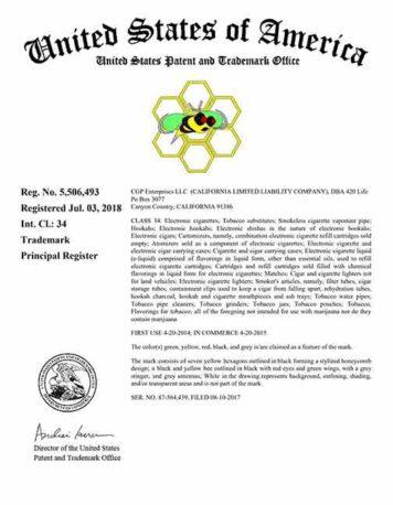 420 Life US Trademark; 710 Life US Trademark; 420Life US Trademark; 710Life US Trademark;420Life;710Life;420 Life;710 Life; US Trademark; Honey Bee Logo Trademark