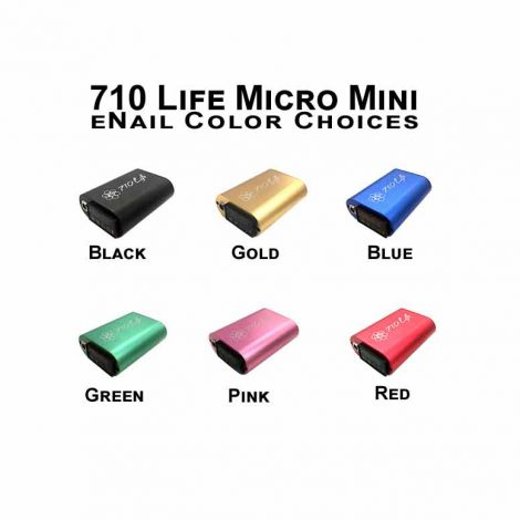 710 Life Micro Mini eNail Color Choices. the best enails for dabbing