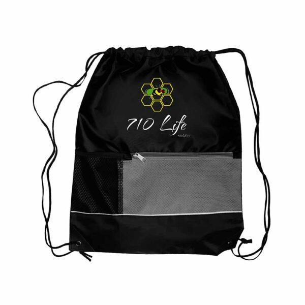 710 Life Drawstring Bags Zip Tote Bag