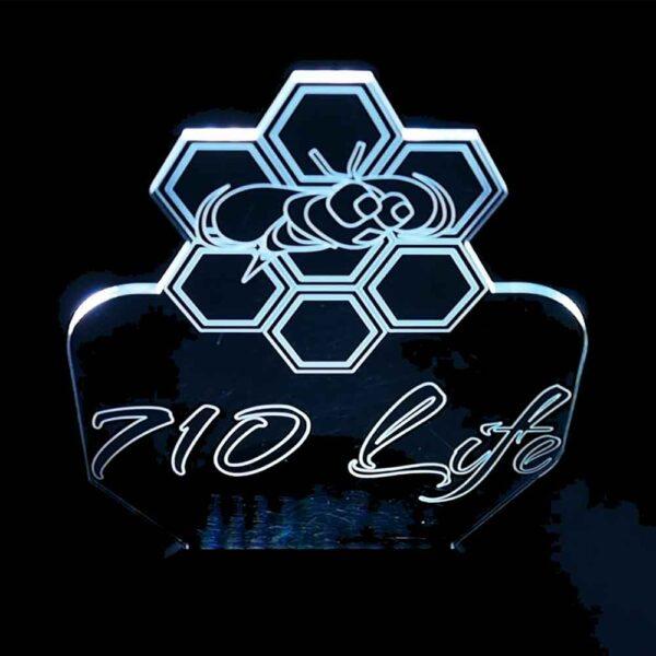 710 Life LED Light - 420 Life LED Logo Light